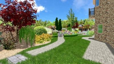 Ландшафтный дизайн в Донецке 3D