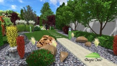 3D проектирование ландшафтного дизайна в Донецке
